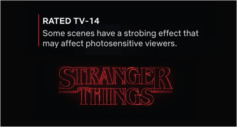 Example: warning in Netflix (source: themighty)