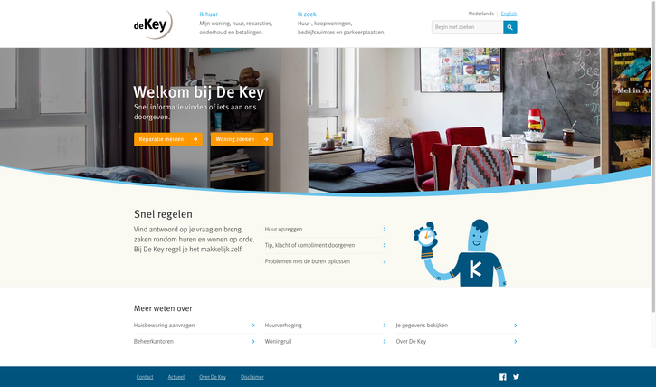 De Key homepage design Fabrique